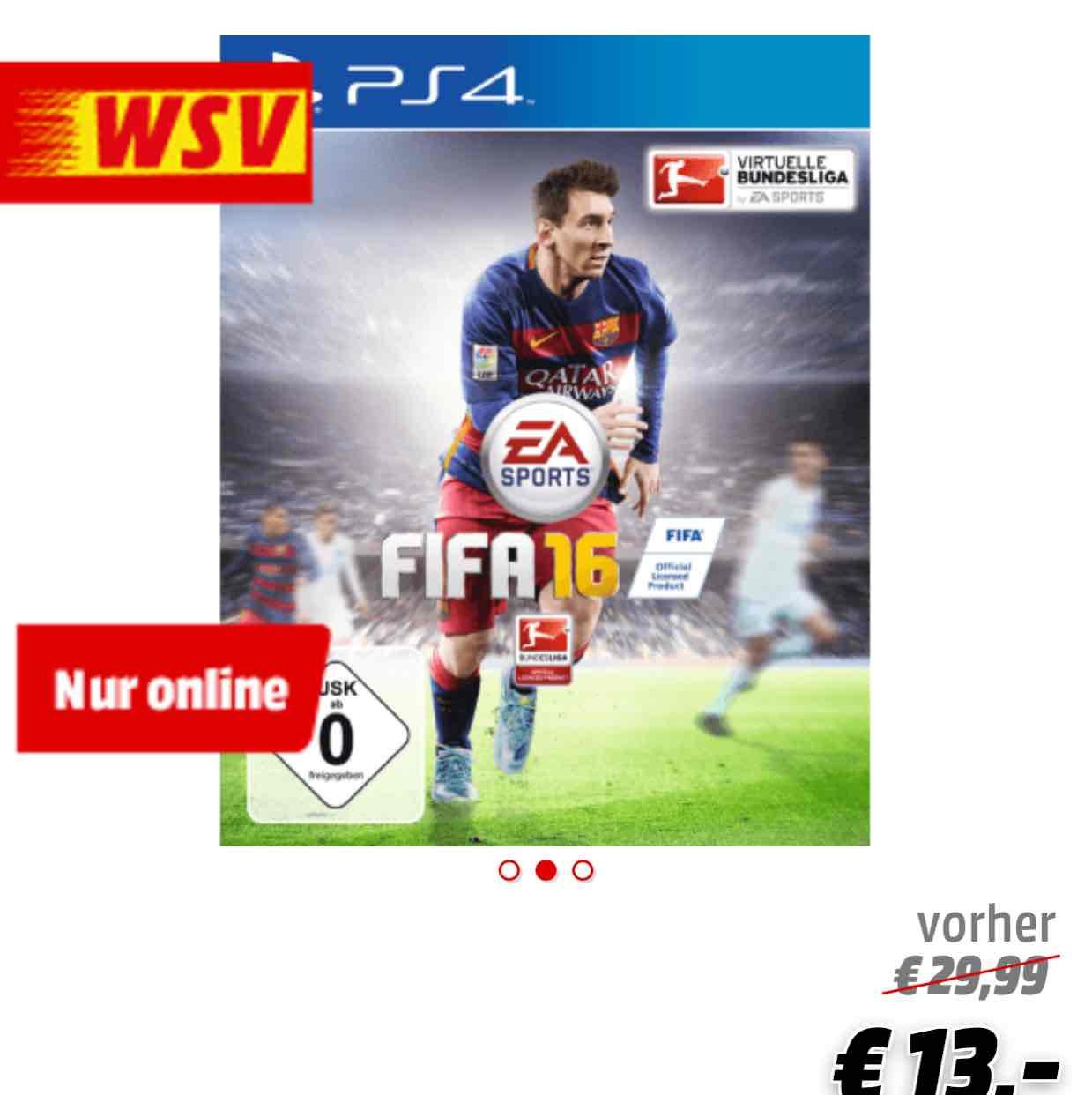 FIFA16 für PS4 und XBOX one 13€ gut für FIFA-Sammler @Media Markt