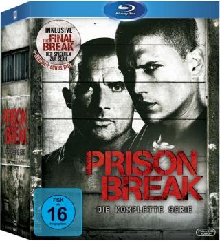Prison Break Complete Box Blu-Ray für 39,94 Euro bei Alphmovies