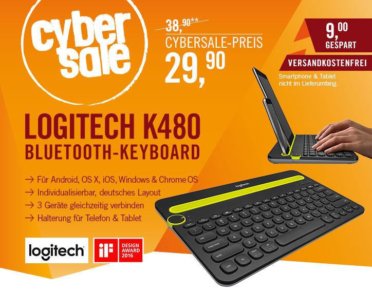 Logitech K480 für 29,90€ - Tablet-Tastatur mit Bluetooth