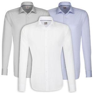 Seidensticker Herren Langarm Hemd Slim Fit (3 Farben) für 24,95€ bei Ebay