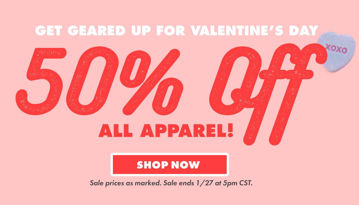 50% Rabatt auf alle Klamotten bei Threadless