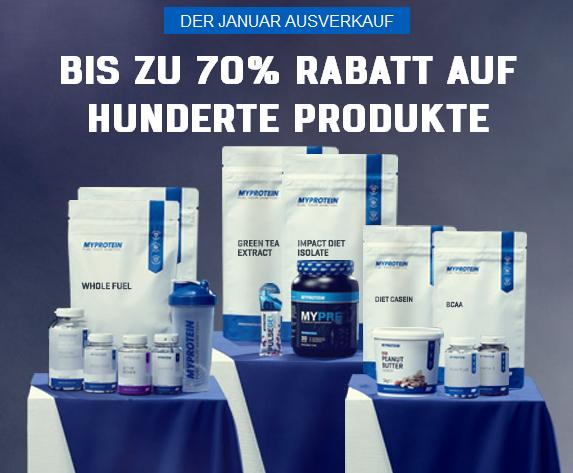 Lagerverkauf bei Myprotein bis zu 70% Rabatt + 20% Gutschein: Pony + 10% Shoop
