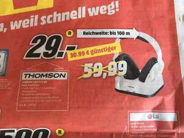 [Lokal MM Magdeburg Pfahlberg] Thomson WHP 3315 WB Funk-Kopfhörer für 29 Euro