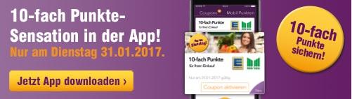 [DeutschlandCard] App 10-fach Punkte bei EDEKA & Marktkauf