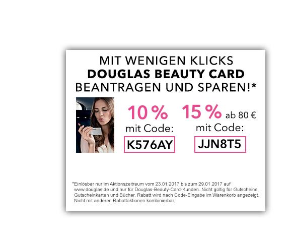 Douglas Beauty Card kostenlos 10-15% sparen