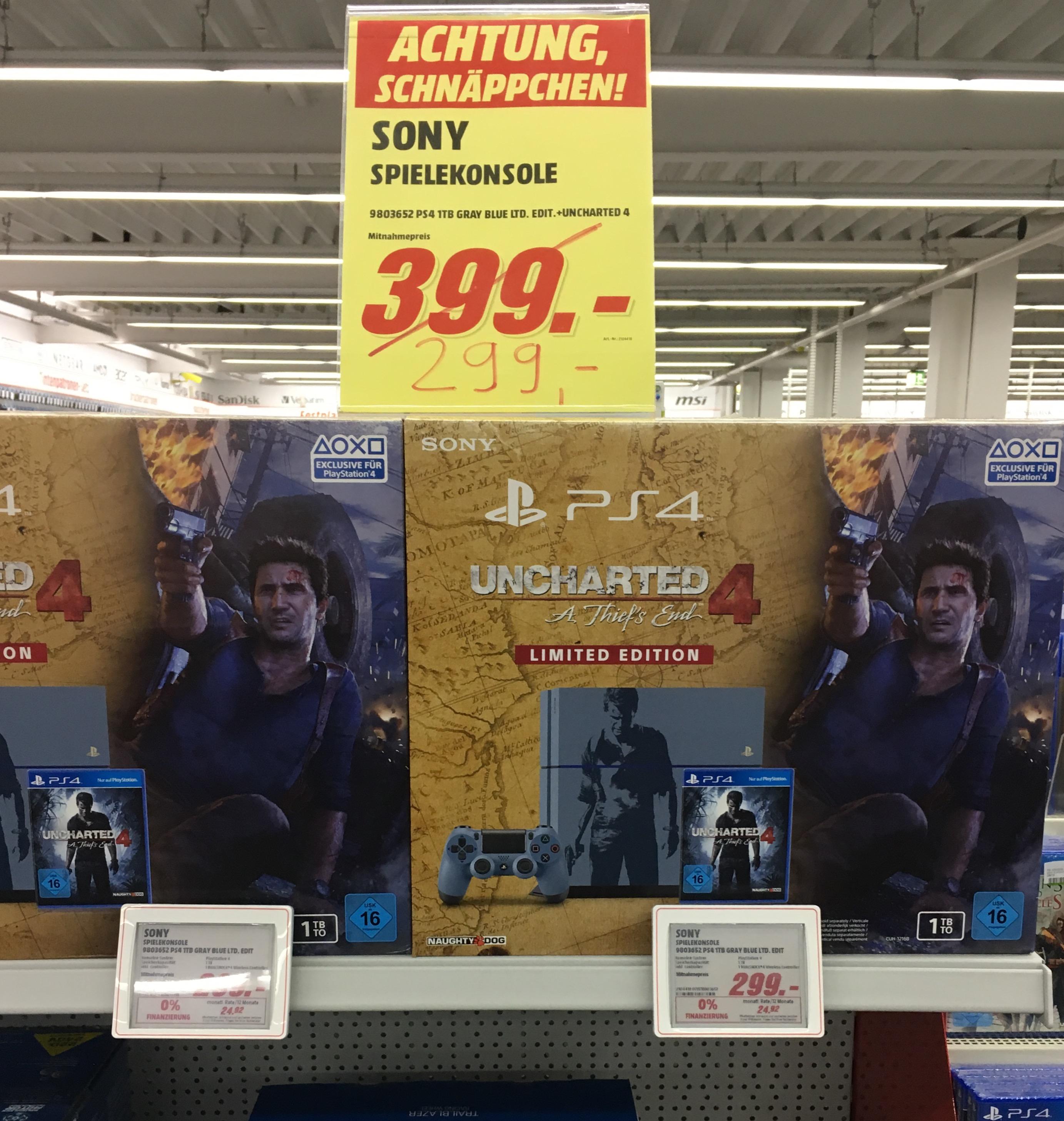 [Lokal Media Markt Singen] Sony PlayStation 4 1TB + Uncharted 4: A Thief's End für 299€