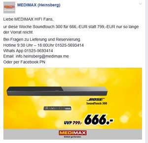 BOSE Soundtouch 300 bei MEDIMAX Heinsberg