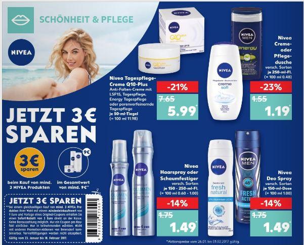 Nivea Duschgel statt 1,55€ dank Angebot und Coupon nur 82 Cent Stück beim Kauf von 8 Stück zu 6,52 Euro
