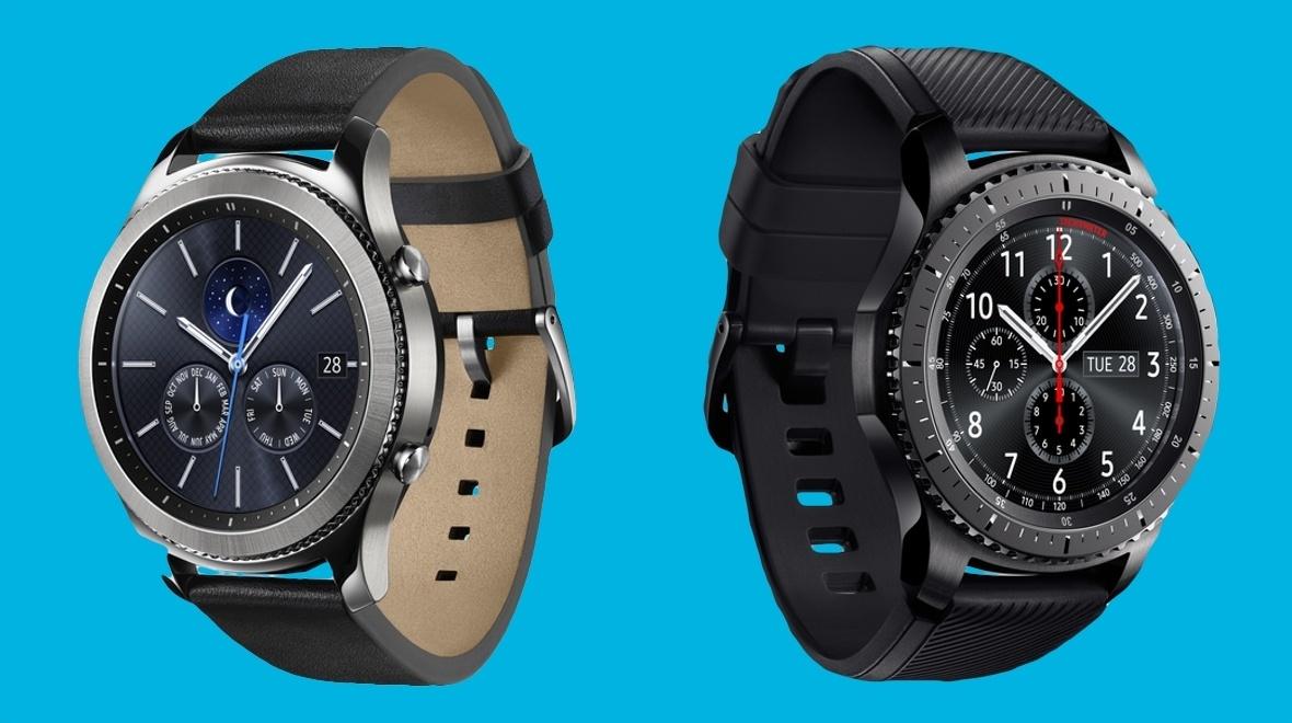 Bestellung per Rechnung möglich! Samsung Gear S3 Frontier und Samsung Gear S3 Classic in Silber BESTPREIS! im Vodafone Shop!
