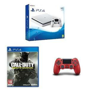 Sony PlayStation 4 500GB weiß + Call of Duty Infinite Warfare +  2. DualShock Controller (rot oder weiß) für 299€ (Amazon.co.uk)