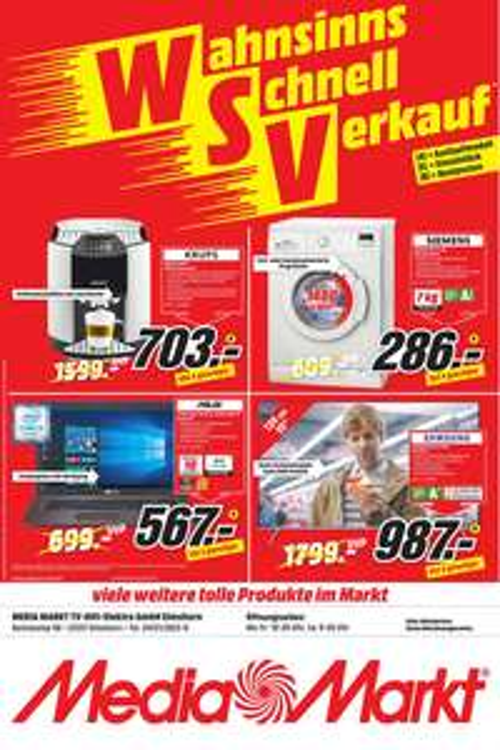 [Lokal Media Markt Hamburg und Umgebung] Samsung UE55KS7090  für 987 Euro und Siemens WM14E220 Waschmaschine