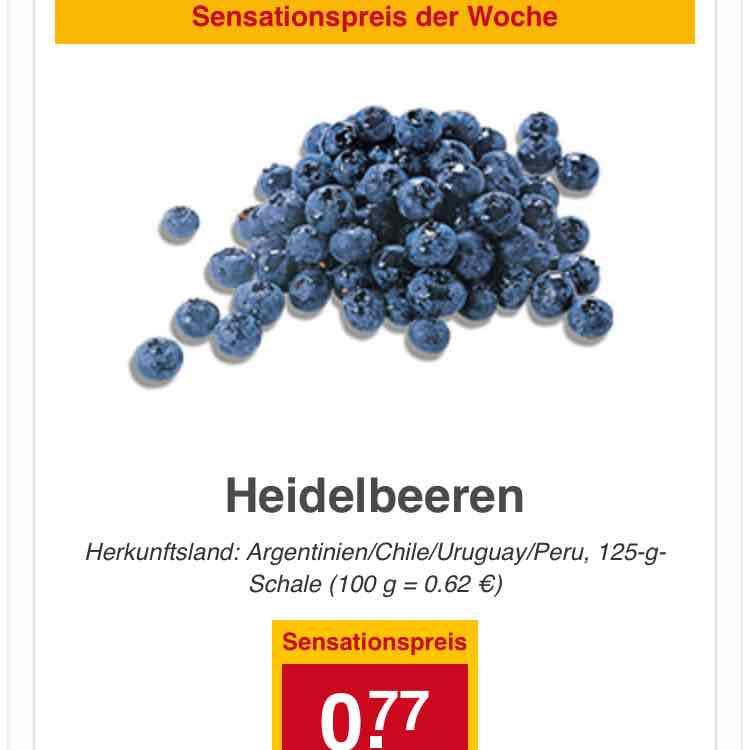 [REWE Bundesweit] Sensationspreis - Heidelbeeren 125g - 0,77€