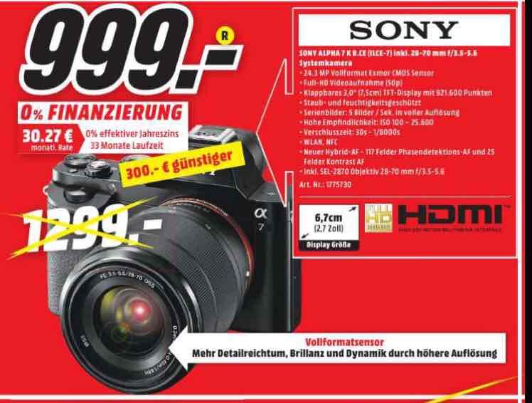 Sony Alpha 7 Kit 28-70, Lokal MM Gütersloh
