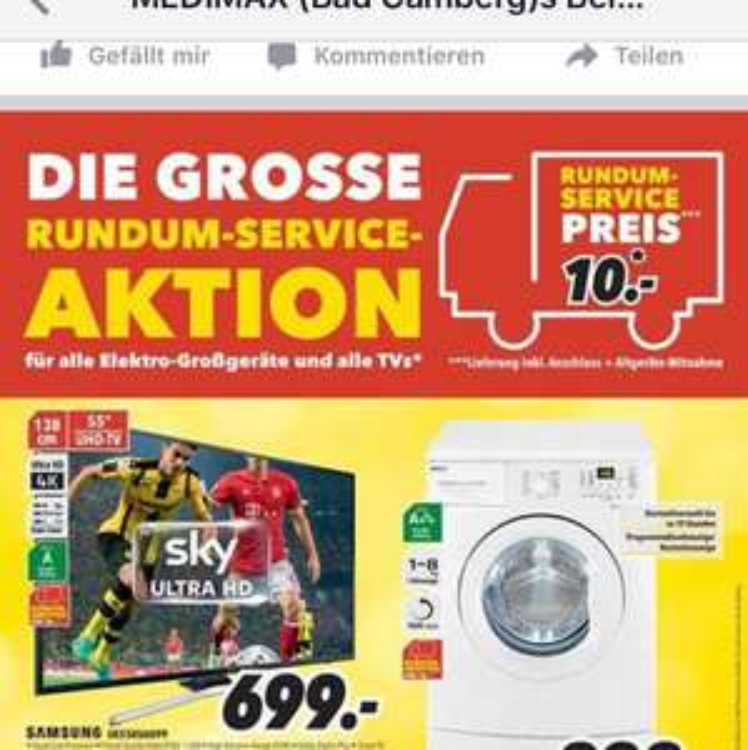 "Samsung ue55ku6099 uhd 55"" (hdr, Smart tv) für 700€ @Medimax Bad Camberg"