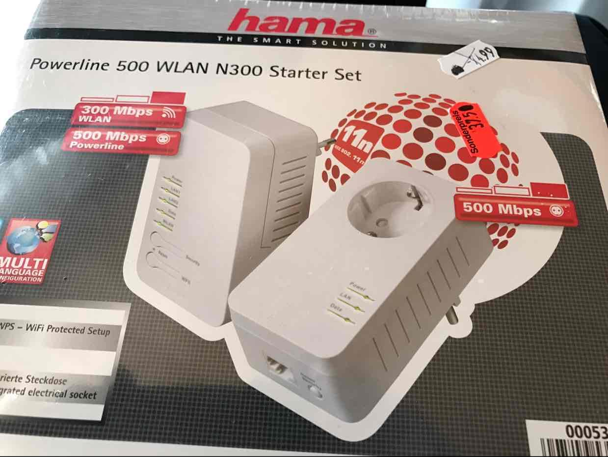 [Lokal] Hama Powerline 500 WLAN N300 (Marktkauf Bielefeld Baumheide)