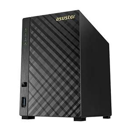 Asustor AS3202T 2-Bay NAS System mit HDMI 1.4b für 4K Playback, Fernbedienung