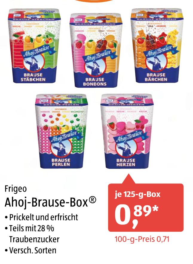 [Aldi-Süd] Frigeo Ahoi-Brause-Box verschiedene Sorten 125g für jeweils 0,89€ am 11.02.2017