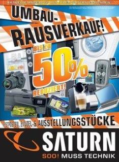 [Saturn Dresden] Ausverkauf - bis zu 50 Prozent Rabatt auf alle Waren des Marktes