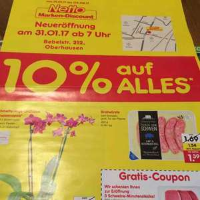 [lokal] Netto Neueröffnung in Oberhausen 10% Rabatt und spezielle Angebote