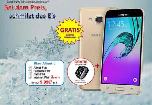 3 GB Allnet Flat für 9.99 im Monat mit gratis Samsung Galaxy J3
