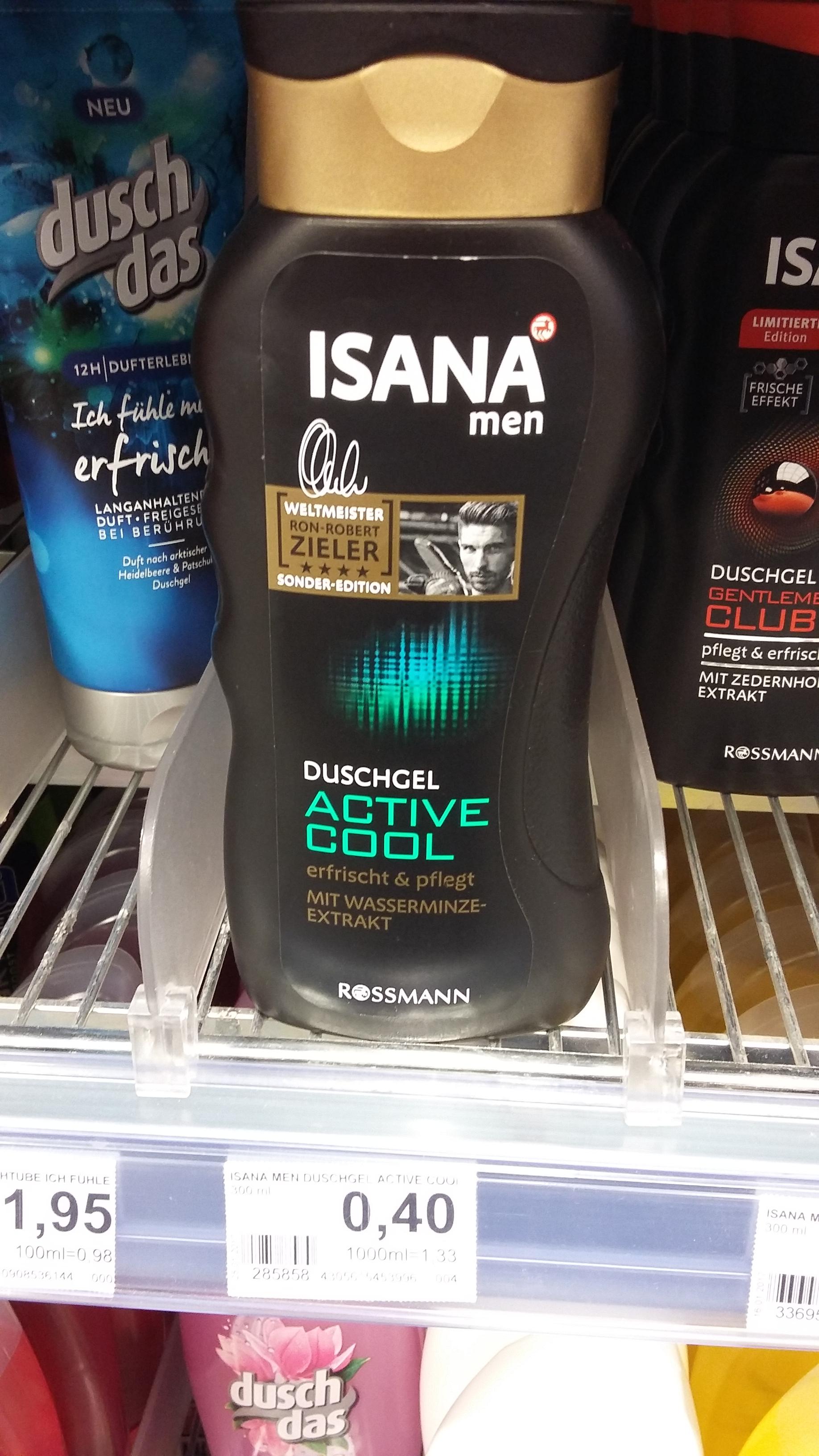 Günstig Duschen - Duschgel Active Cool 300 ml 40 ct. (Rossmann offline)