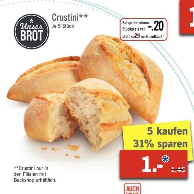Lidl 5 Crustini für 1€ ab 30.1