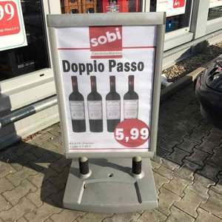 [Lokal Sobi Augsburg] Doppio Passo Primitivo 2015 Rotwein 5,99€ statt 7,99€