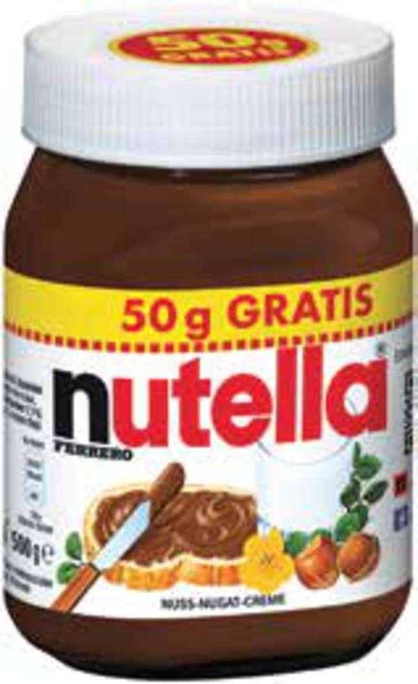 500gr Nutella (3,38€/kg) ab nächster Woche in Hit Filialen