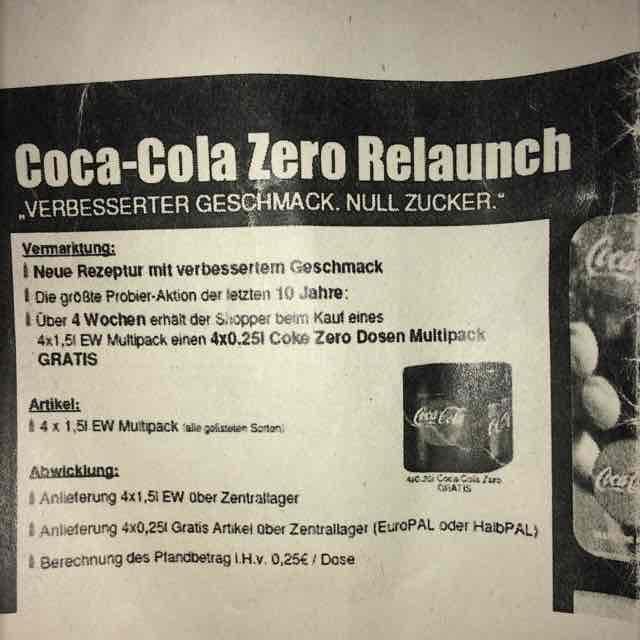 Kaufland 4x Coke Zero Dosen zu jedem 1,5 * 4 Liter EW Cola/Fanta/etc.