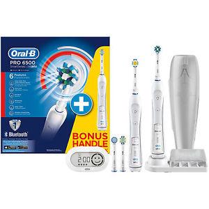 [UPDATE nochmal 11 EUR günstiger über Ebay bei MM] ORAL-B Pro 6500 + 2. Handstück elektrische Zahnbürste Weiß [EBAY bei MediaMarkt online] + Shoop