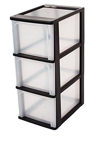 Iris 144005 A-4 Tischschubladen, Schubladenbox mit 3 Schubladen, Schubladencontainer mit 3 Schübe, Schubladenelement ohne Rollen, Bürobox, OCH-2300 @amazonBlitz zu 12,67€