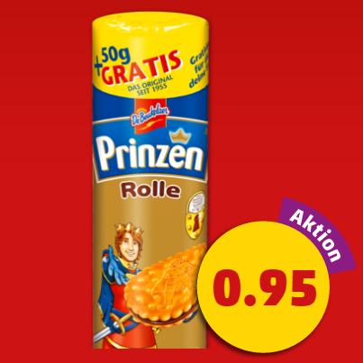De Beukelaer Prinzenrolle (+50g Gratis) 450g für nur 0,95€ am Framstag bei Penny