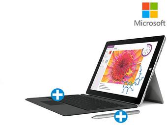 [ibood] Surface 3 (64 GB, 4 GB RAM) mit Surface-Stift und Type Cover