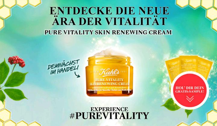 Gratisproben der Kiehl's Pure Vitality Skin Renewing Cream