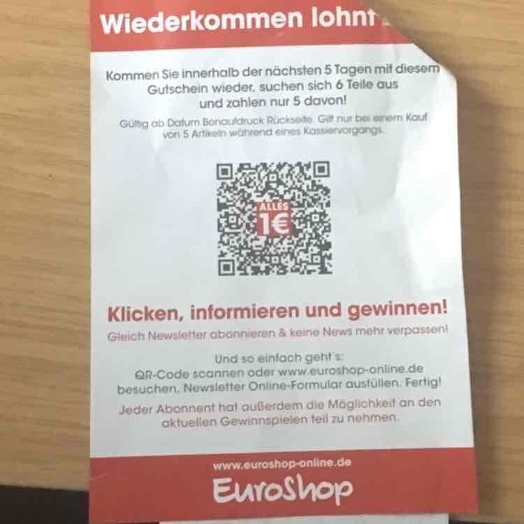 6 Teile kaufen und davon 5 bezahlen [Euroshop Düsseldorf]