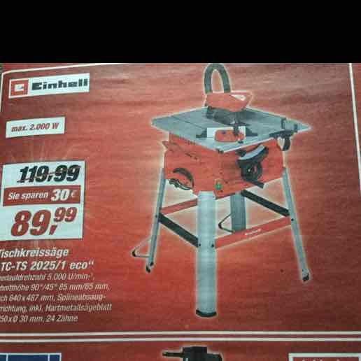 [toom] einhell tischkreissäge 89,99€