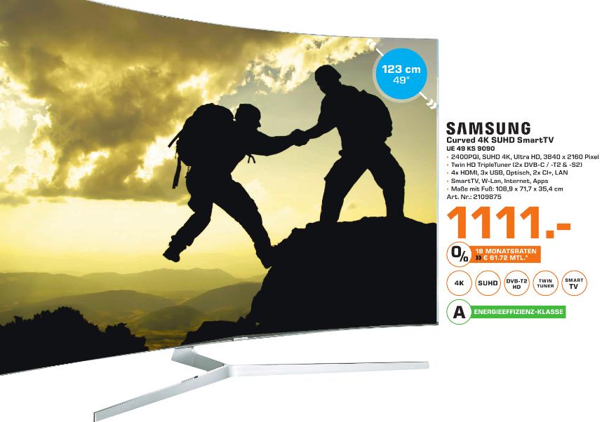 Samsung UE49KS9090 (Lokal Bremerhaven) 4K HDR Curved 10Bit Panel