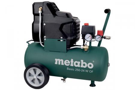 Wieder vorrätig - Metabo Kompressor Basic 250-24 W OF - Ölfrei (nächster Preis ca 144€)