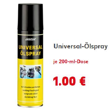 [Kaufland ab 02.02.]  Astat Universal-Ölspray 200ml für 1€