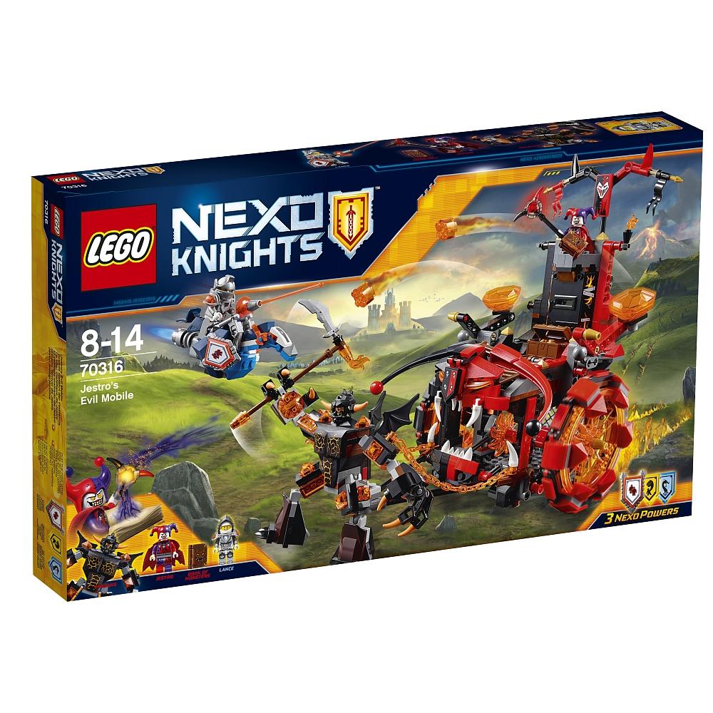 Lego Nexo Knights 70316 Jestros Gefährt der Finsternis + 70325 Infernox und die Königin für 44,98€ bei Abholung @[ToysRUs] statt ca. 80€