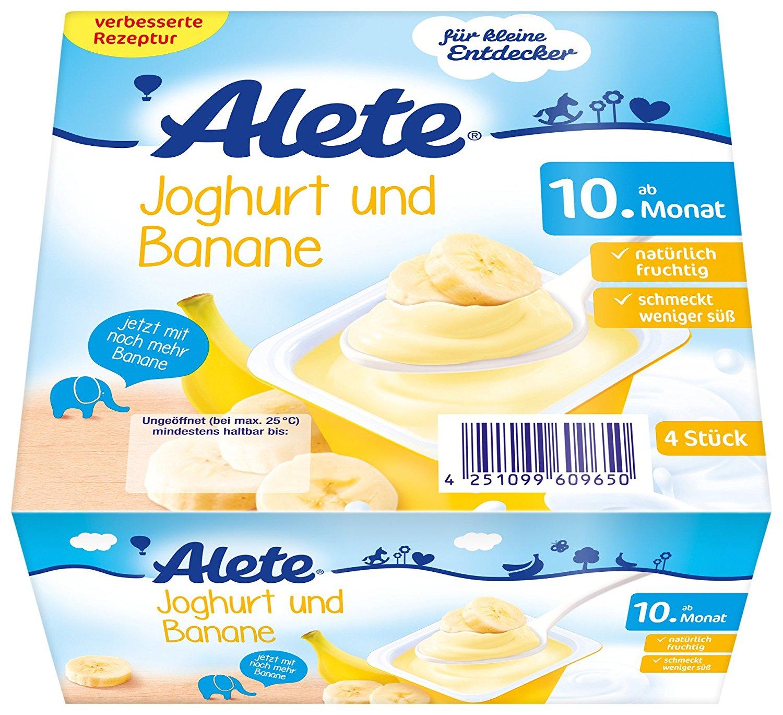 [Amazon Prime] Alete Joghurt und Banane, 6er Pack (6 x 400 g)
