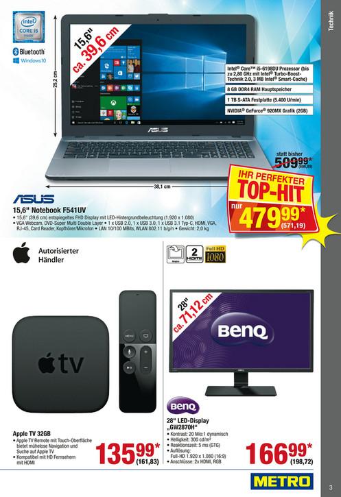Metro-Offline: Apple TV 32 GB mit Rabattcupon 145,65 EUR
