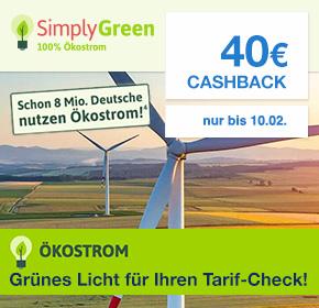 (Shoop) Ökostrom mit 40€ Cashback und zb. 100€ Bestchoice Prämie
