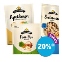 20% Rabatt auf Trockenfrüchte & Nüsse der Marke SimplySunny bei [Penny] durch App-Coupon