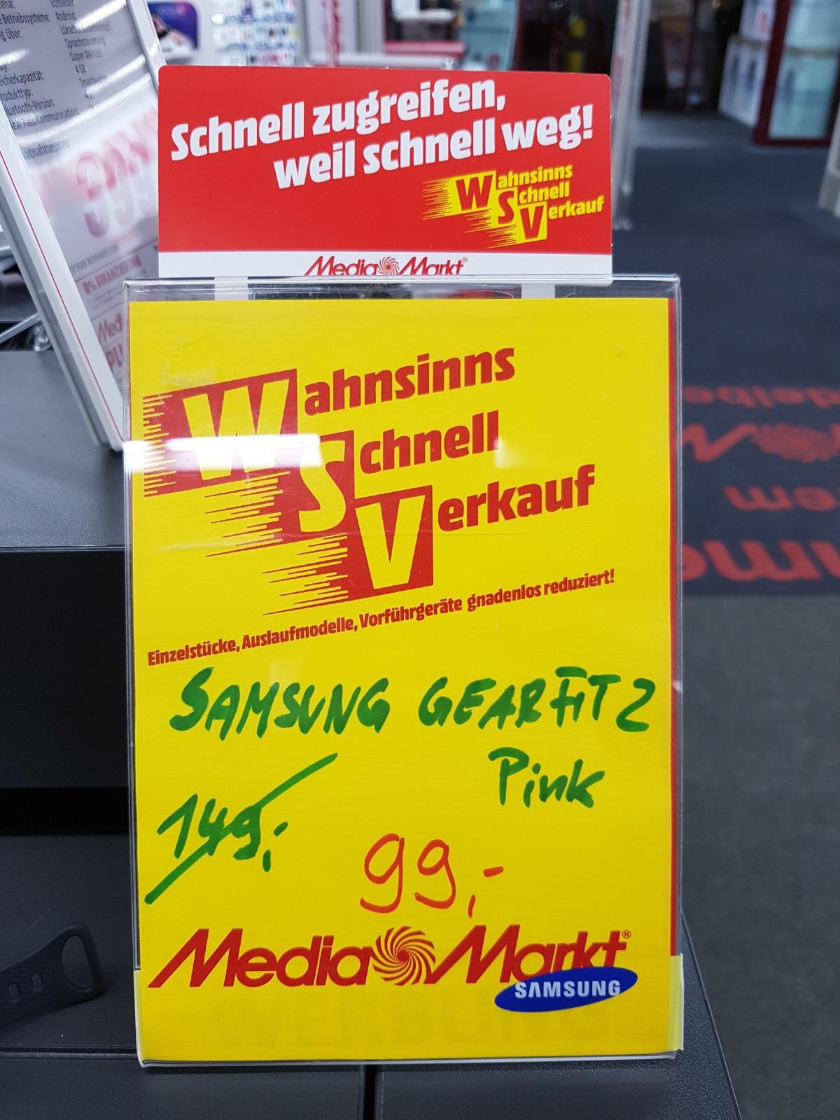 [Lokal MediaMarkt Heidelberg Hebelstr.] Samsung Gear Fit2 / Fit 2 in Pink