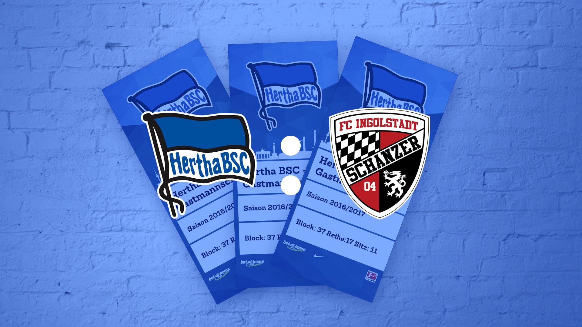 Hertha BSC - FC Ingolstadt Tagesticket am 04.02.17 für 10.000 Fanmiles Punkte