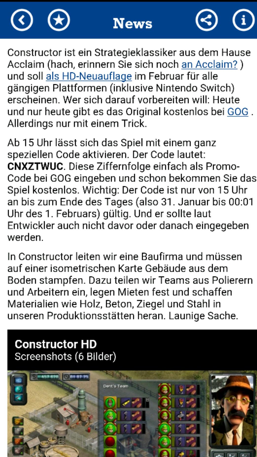 [GOG] Constructor -kostenlos-