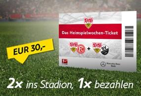 VfB Stuttgart Ticketaktion: 2x ins Stadion, 1x bezahlen ++50% Rabatt++