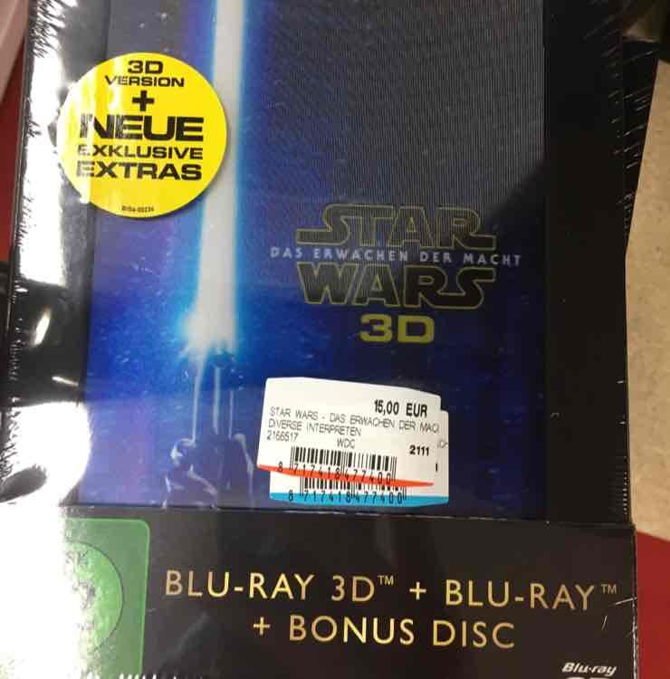 [MM Jena] 3D-BluRay - Star Wars - Das erwachen der Macht - Collector = 15€ (PVG: 29,99€)