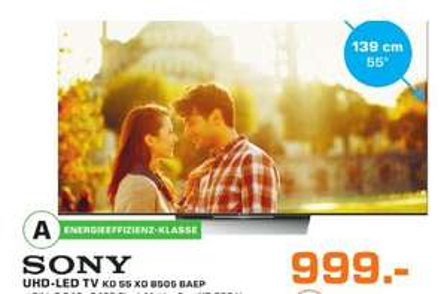 Sony KD 55-XD8505 55 Zoll UHD lokal Saturn Trier
